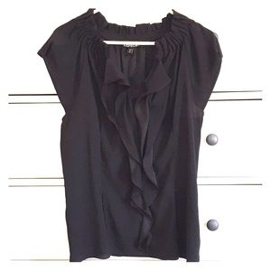 Express 💕 Blouse with Front Ruffle!! Size Medium